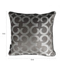 S9Home by Seasons Grey & Silver Polyester 16 x 16 Inch Cushion Cover with Piping