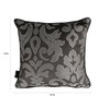 S9Home by Seasons Grey & Silver Polyester 16 x 16 Inch Traditional Cushion Cover with Piping - Set of 2