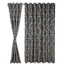 S9Home by Seasons Grey Polyester Floral Curtain - Set of 2