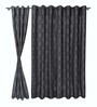 S9Home by Seasons Grey Polyester Indian Ethnic Curtain - Set of 2