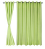 S9Home by Seasons Lime Polyester Solid Curtain - Set of 2