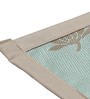 S9home by Seasons Premium Quality 6 Seater Aqua & Beige Polyester Table Placemats with Border - Set of 6