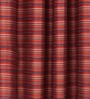 S9home by Seasons Red Striped Long Door Curtain (Set of 2)