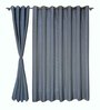 S9Home by Seasons Royal Blue Polyester Geometric Curtain - Set of 2