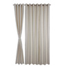 S9home by Seasons White Polyester Solid Window Curtain - Set of 2