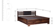 Clancy Hydraulic King Bed with Hydraulic Storage in Provincial Teak Finish by Woodsworth