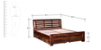 Lynnwood Queen Bed with Storage in Provincial Teak Finish by Woodsworth