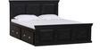 Barnsdale Queen Bed with Storage in Espresso Walnut Finish by Amberville