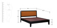 Fresno Queen Bed in Espresso Walnut Finish by Woodsworth