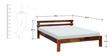 Connell Queen Size Bed in Provincial Teak Finish by Woodsworth