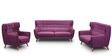 San Juan Two Seater Sofa in Deep Sangria Colour by CasaCraft