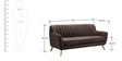 San Pio Three Seater Sofa in Chestnut Brown Colour by CasaCraft