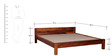 Savannah King Bed in Honey Oak Finish by Woodsworth