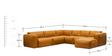 Sashlea Sectional Sofa in Camel Colour by Madesos