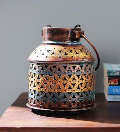 Satyam International Multicolour Metal Painted Tea Light Holder