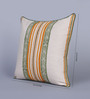 Sadyaska Beige & Mustard Cotton 16 x 16 Inch Mudrika Printed Cushion Cover