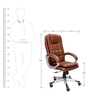 Saecula Executive High Back Chair in Brown Color By VJ Interior