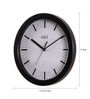 Safal Quartz Black MDF 11.5 Inch Round Long Stroked Wall Clock