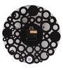 Safal Quartz Black MDF 12 Inch Round Bubbly Bubbles Wall Clock