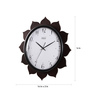 Safal Quartz Black MDF 16 Inch Round Petals On All Sides Wall Clock
