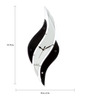 Safal Quartz Black & White MDF 19.75 x 8 Inch wavy Wall Clock