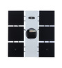Safal Quartz Square Shaped Black & White Clock MDF Wall Clock