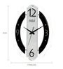 Safal Quartz Oval Black & White Clock MDF Wall Clock