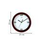 Safal Round Brown Wall Clock