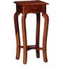 Lyde End Table with Curved Legs in Honey Oak Finish by Amberville