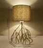 Sahil Sarthak Designs mangrove table Off White Silk Shade Table Lamp