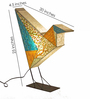 Sahil Sarthak Designs Multicolour Paperlove Bird Table Lamp