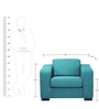 Salen One Seater Sofa in Dark Blue Colour by Madesos