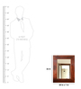 Salomon Wall Mirror in Brown by Casacraft