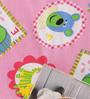 Salona Bichona Pink 100% Cotton Queen Size Bedsheet - Set of 3
