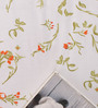 Salona Bichona White & Orange Floral Double Bed Sheet Set