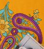 Salona Bichona Yellow 100% Cotton Single Size Bedsheet - Set of 2