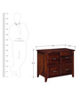 Everson Chest of Drawers in Honey Oak Finish by Woodsworth