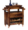 Rochester Bar Trolley in Provincial Teak Finish by Woodsworth