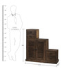 Salvador Step Cabinet in Provincial Teak Finish by Woodsworth