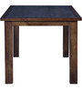 Benton Dining Table with Glass Top in Provincial Teak Finish by Woodsworth