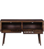 Barnes Console Table in Provincial Teak Finish by Woodsworth