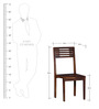 Charleston Solid Wood Dining Chair in Provincial Teak Finish by Woodsworth