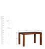 Winona Four Seater Table with Glass top in Provincial Teak Finish by Woodsworth