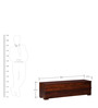 Freemont Entertainment Unit in Provincial Teak Finish by Woodsworth