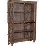 Cooper Book Case Cum Cabinet in Distress Finish by Bohemiana