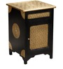 Niska Bed Side Table with Brass Repousse Work by Mudramark