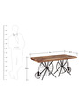 Cantung Six Seater Dining Table in Dual Tone Finish by Bohemiana