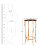 Alva End Table in Dual Tone Finish by Bohemiana