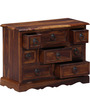 San Luis Small Chest of Drawers in Provincial Teak Finish by Amberville