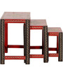 Nakula - Painted Set Of Tables by Mudramark